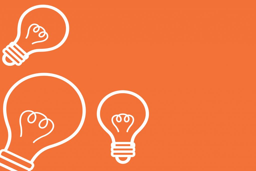 center for entrepreneurship lightbulb icons